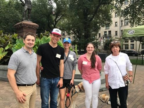 City Councilor Josh Zakim and members of Charlesgate Alliance