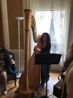 Harpist at the event