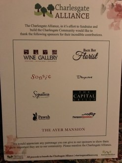 Sponsors of the Charlesgate in Bloom Fundraiser and Cocktail Party