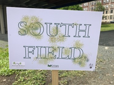 Sign for the South Field Area