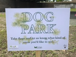 Sign for the Dog Park Area