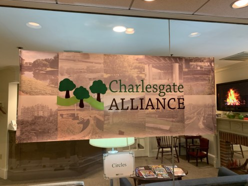 One of Our Two Banners at the 2019 Silent Auction
