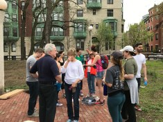 Meeting at Charlesgate Park for the Charles River Cleanup
