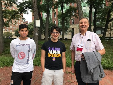 Jim Latimer, Chair of Community Relations at Association of Independent Living Groups at MIT with MIT students