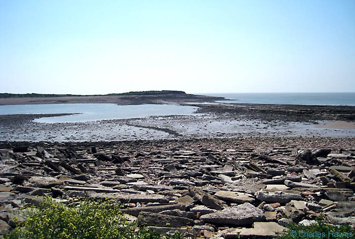 Sully Island, Swanbridge on the wales Coast Path photographed by Charles Hawes. Walking in Wales.