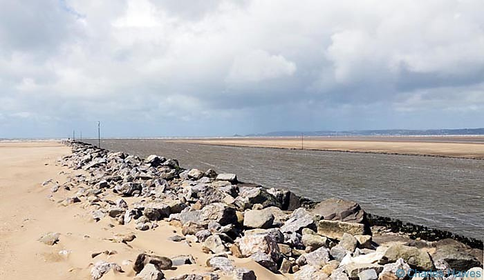 The River Neath near its confluence at Baglan Bay photographed from near the Wales Coast Path by Charles hawes. Walking in Wales.