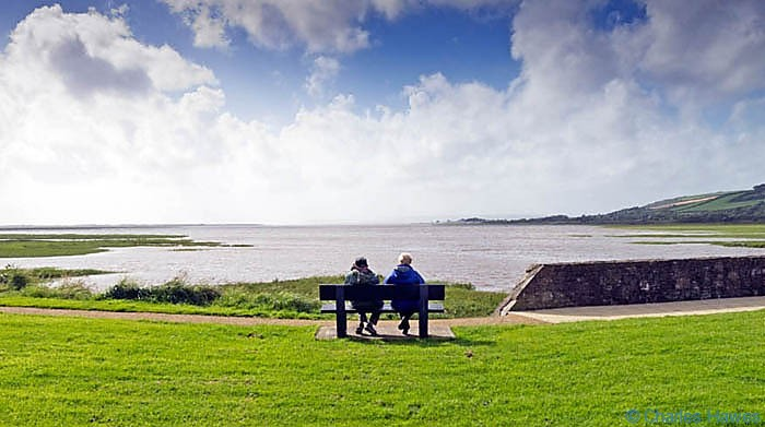 View from Kidwelly Quay photographed on The Wales Coast path between Llanelli and Kidwelly by Charles Hawes. Walking in Wales.