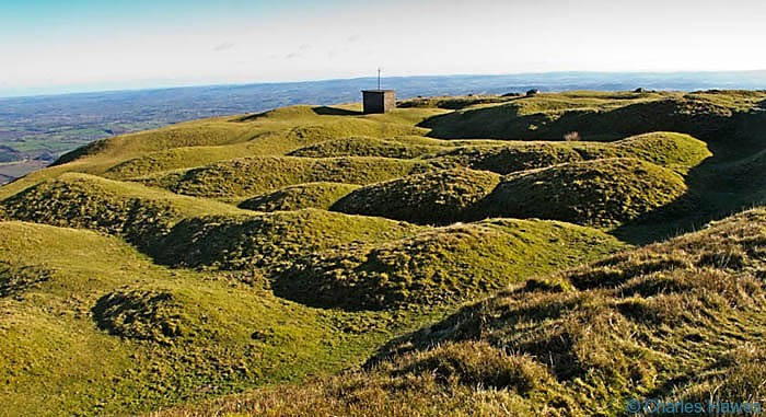 Unduklating ground on the north side of Blorenge., photographed by Charles Hawes. Walking in Wales.