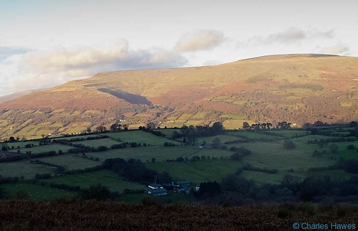 View to Pen Cerrig- calch from Mynydd Llangatwg, Powys, photographed by Charles Hawes