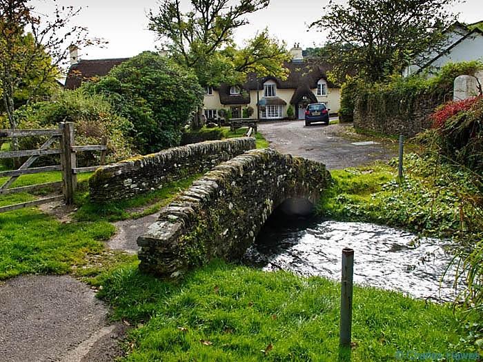 Packhorse Bridge in Winsford, Somerset, Exmoor, photographed by Charles Hawes. Walking in Exmoor.