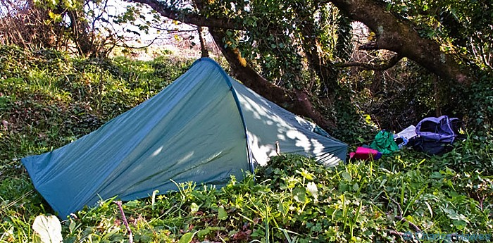 Wild Camping off the Wales Coast Path near Manorbier, Pembrokeshire. Image by Charles Hawes