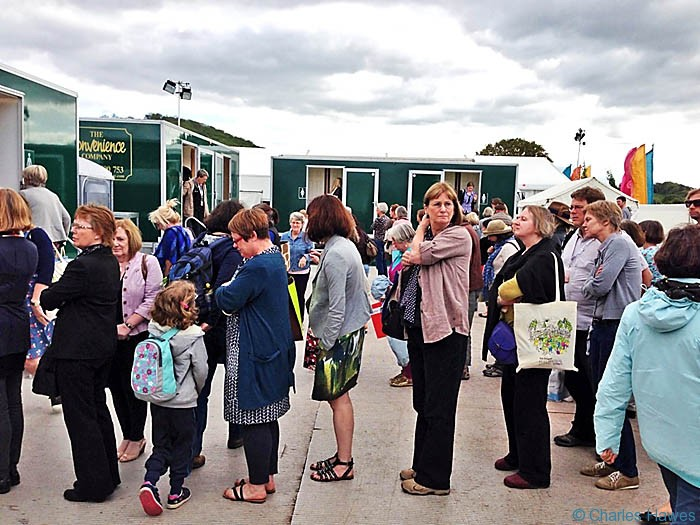 Women's toilet queue at Hay-on-Wye Festival 2013. Photograph by Charles Hawes