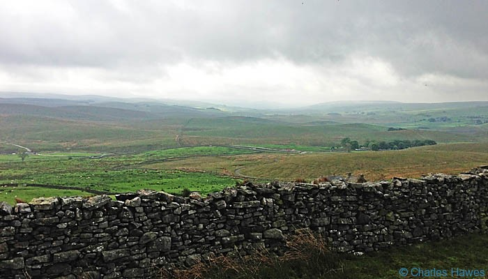 View from above Gearstones on The Dales Way in North Yorkshire, photographed by Charles Hawes