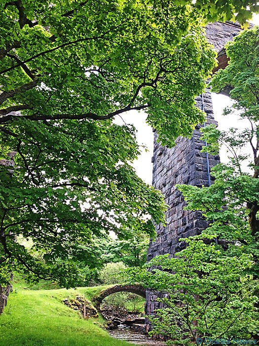 View under the Dent Head Viaduct on The Dales way, photographed by Charles Hawes