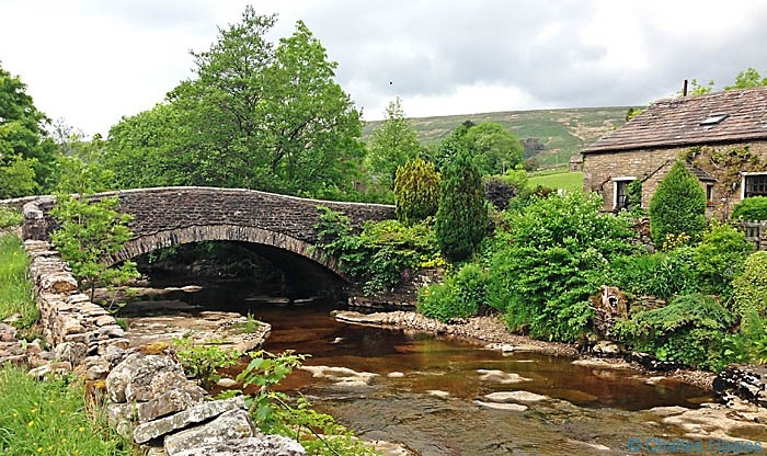 Lea Yeat Bridge over the River Dee on The Dales Way, photographed by Charles Hawes