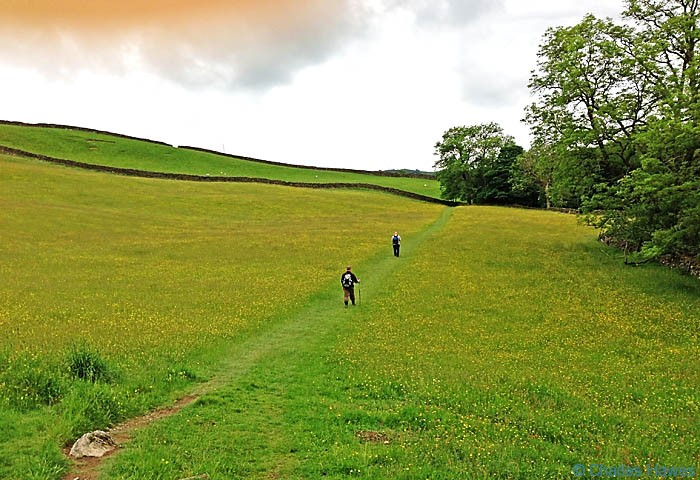 Walking The Dales way near Staveley, photographed by Charles Hawes