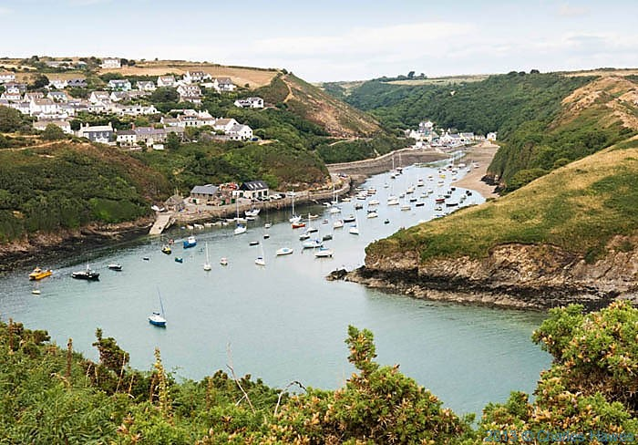 View over Solva in Pembrokeshire, photographed from The Wales Cast Path by Charles Hawes