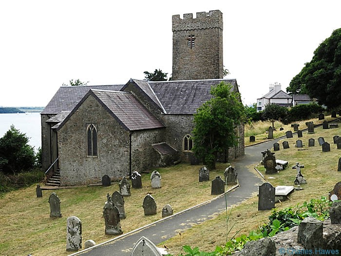 Church at Llanstadwell on The Wales Coast path in Pembrokeshire, photographed by Charles Hawes