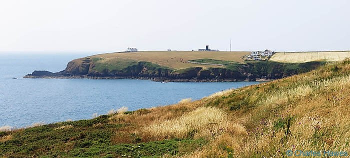 View to St Ann's Head and Lighthouse in Pembrokeshire, photographed from The Wales Coast Path by Charles Hawes