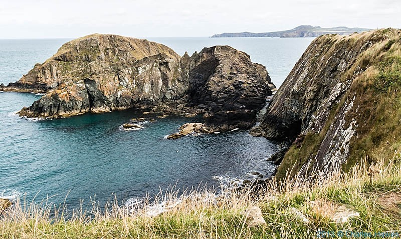 The coast near Abercastle, Pembrokeshire, photographed from The Wales Coast path by Charles Hawes