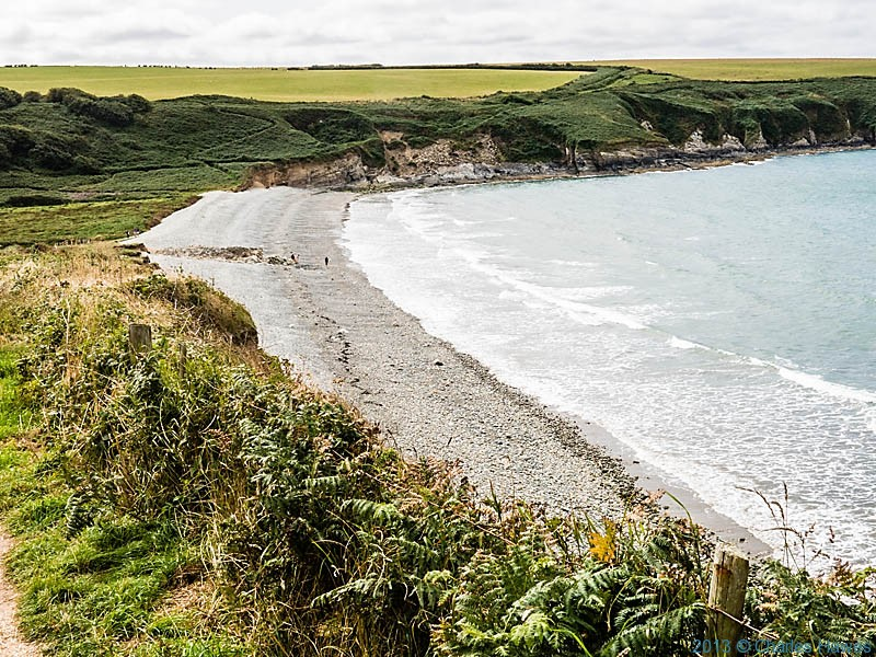 Aber Mawr, Pembrokeshire, photographed from The Wales Coast path by Charles Hawes