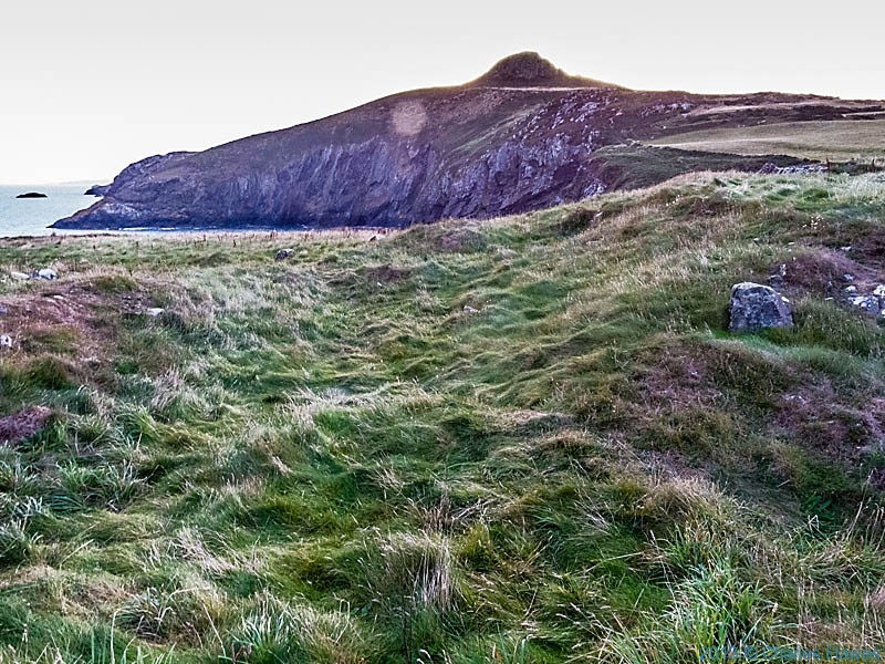 Carn Penberry, Pembrokeshire, photographed from The Wales Coast Path by Charles Hawes