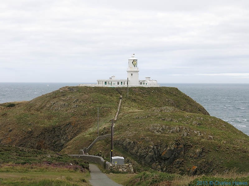 Strumble Head Lighthouse, photographed from The Wales Coast path by Charles Hawes