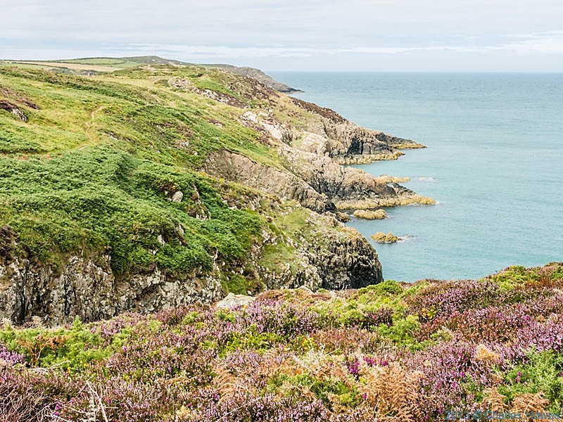 Cliffs and coves near Pen Caer photographed from The Wales Coast Path by Charles Hawes