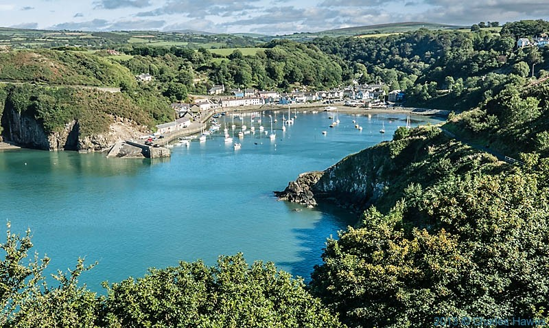View to Lower Fishguard from The Wales Coast Path, photographed by Charles Hawes