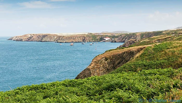 View to St Justinian's Pembrokeshire photographed from The Wales Coast path by Charles Hawes