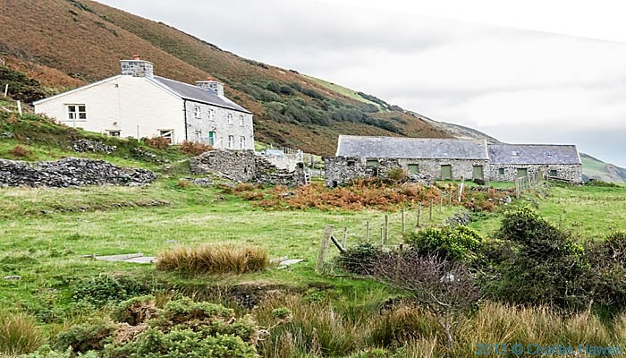 Mynachdy'r Graig farm photographed from The Wales Coast Path by Charles Hawes