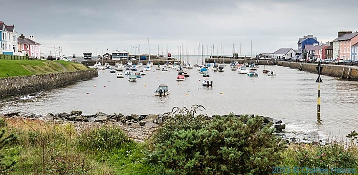 Aberaeron Harbour, photographed from The Wales Coast Path by Charles Hawes