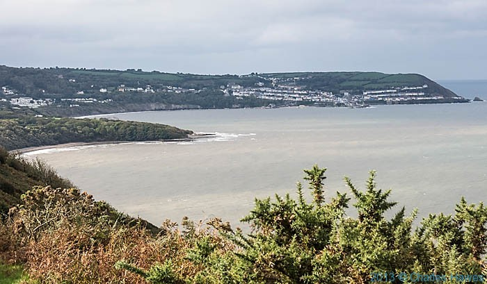 View to Llanina Point and New Quay from the Wales Coast Path in Ceredgion, photographed by Charles Hawes