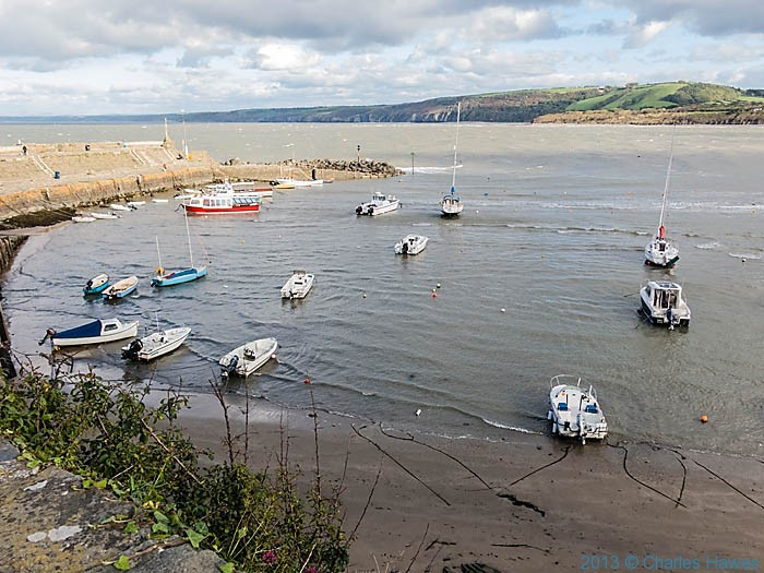 New Quay Harbour, Ceredigion, photographed by Charles Hawes