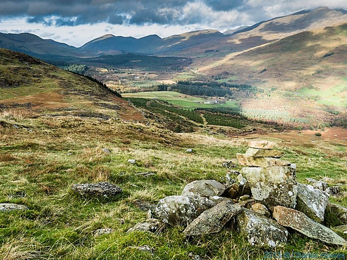 View from foothills of Moel Hebog, Snowdonia, photographed by Charles Hawes