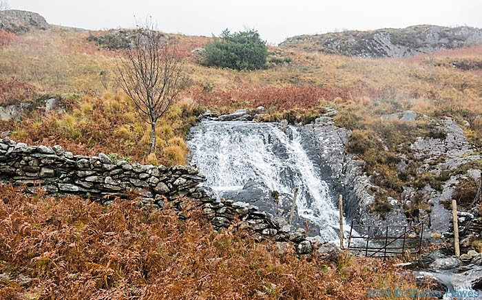 Waterfall above Nantmor, Snowdonia, photograhed by Charles Hawes