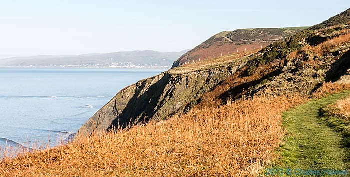 View to Aberdovey from The wales Coast path near Borth, photographed by Charles hawes