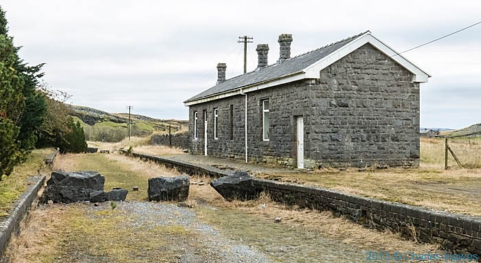 Railway station building at Penwyllt in Brecon Beacons, photographed by Charles Hawes
