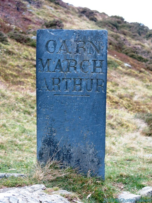 Carn March Arthur stone on the Wales Coast path near Aberdovey, photographed by Charles Hawes