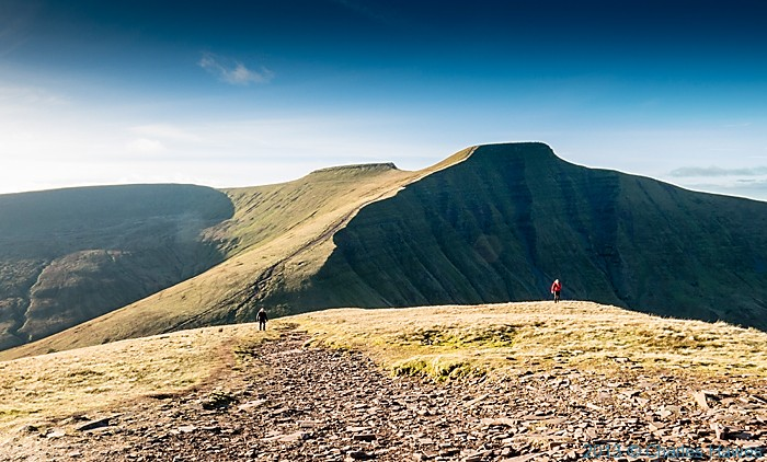 View to Pen y Fan and Corn Du from Cribyn,Brecon Beacons National Park, photographed by Charles Hawes
