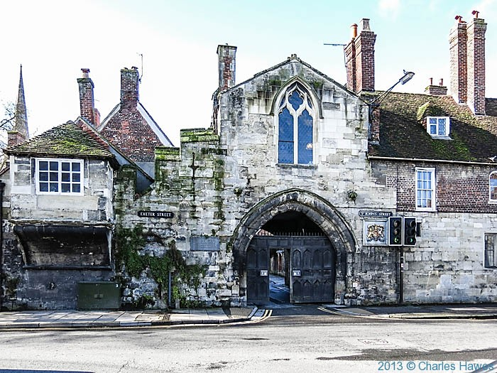 St Ann's Gate, Salisbury, photographed by Charles Hawes