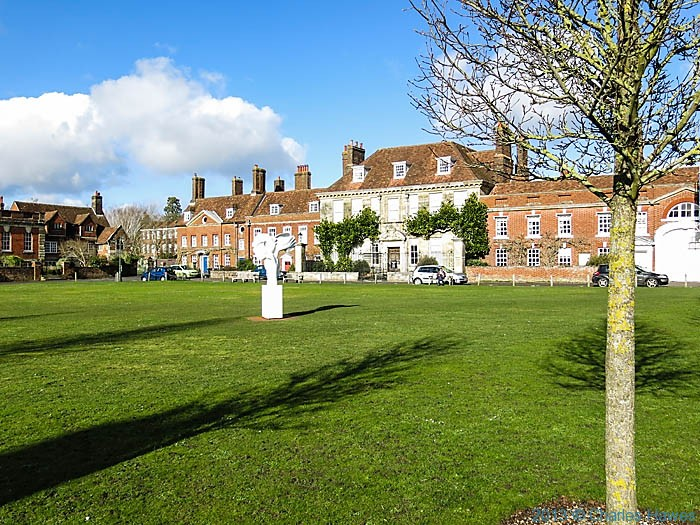 Choristers Green, Salisbury, photographed by Charles Hawes