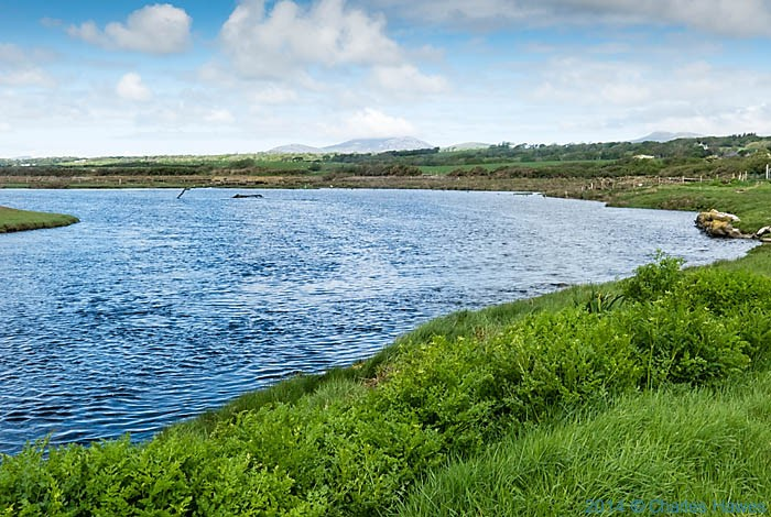 Afon Dwyfor, Lleyn penisula, photographed from The Wales Coast Path by Charles Hawes