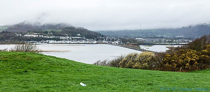 View to Porthmadog and The Cob from The Wales Coast Path, photographed by Charles Hawes
