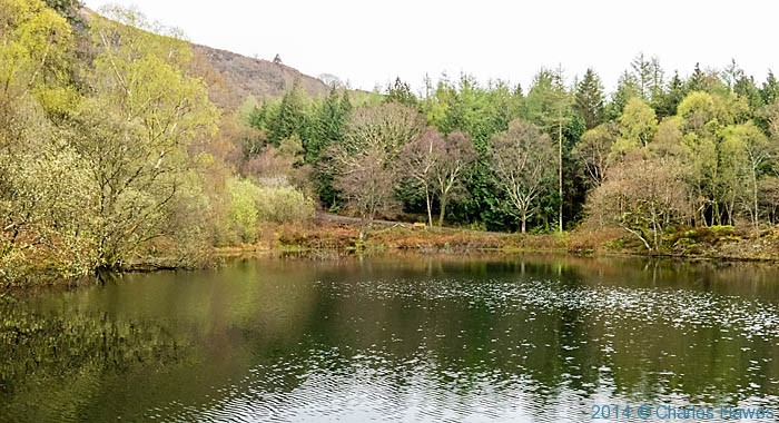 Reservoir near Plas Tan y Bwlch photographed from The Wales Coast Path by Charles Hawes