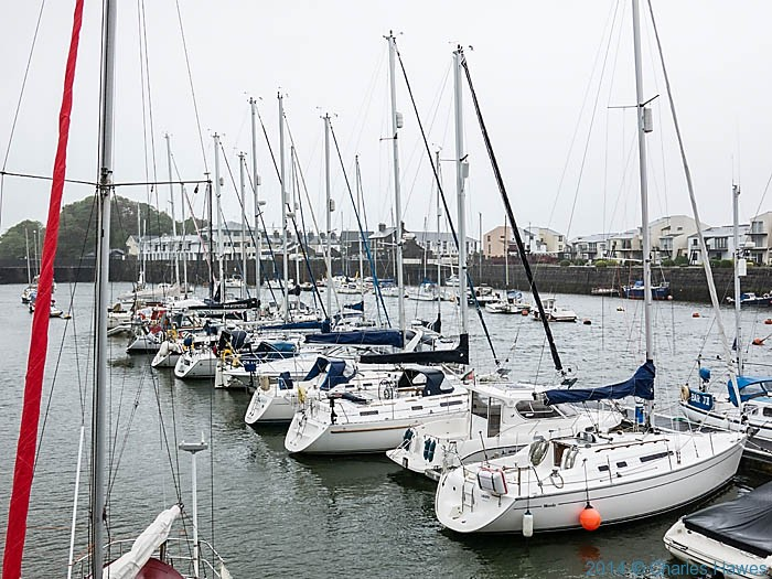 Porthmadog marina, photographed from The Wales Coast Path by Charles Hawes