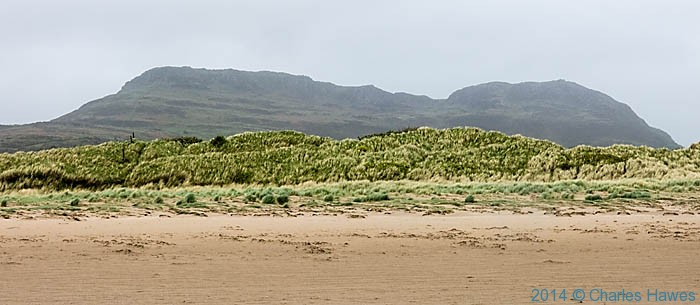 View to Moel y Gest across Black Rock Sands, photograpghed from The Wales Coast Path by Charles Hawes
