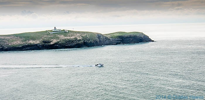 View to St Tudwal's Island West, photographed from The Wales Coast Path by Charles Hawes