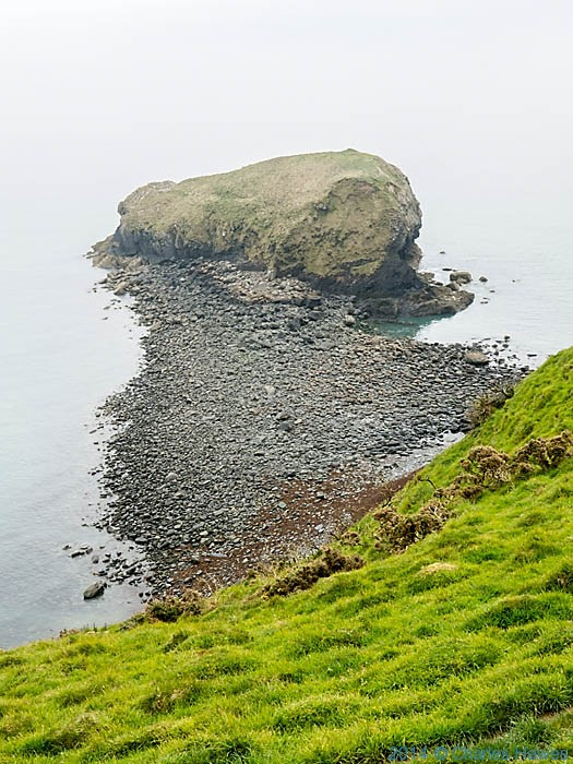 Maen Gwenonwy, photographed from The Wales Coast path by Charles Hawes