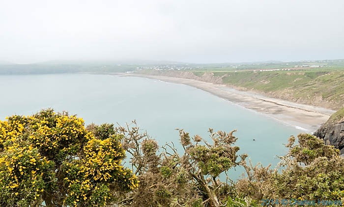 View to Aberdaron fom a  closed footpath on the Lleyn peninsula photographed by Charles Hawes